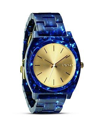 Nixon The Time Teller Acetate Watch, 40mm   Bloomingdale's