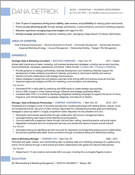 retail sales  u0026 marketing resume