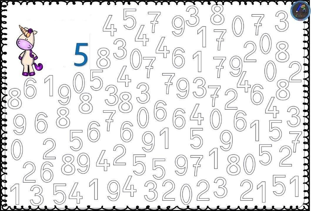 Numbers coloring pages 1-10 free printable preschool