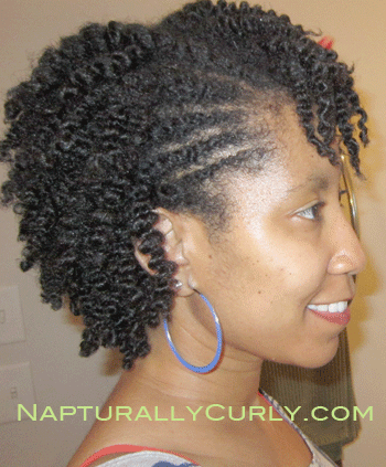 Twist Outs Medium Length Natural Hair Twist Out With Flat Twists On The Side Natural Hair Styles Natural Hair Twist Out Hair Styles