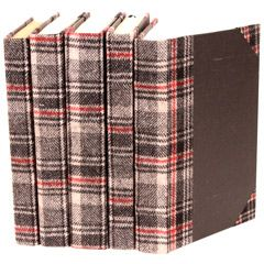Bespoke Glen Plaid Book Set of 5 VINLB2920