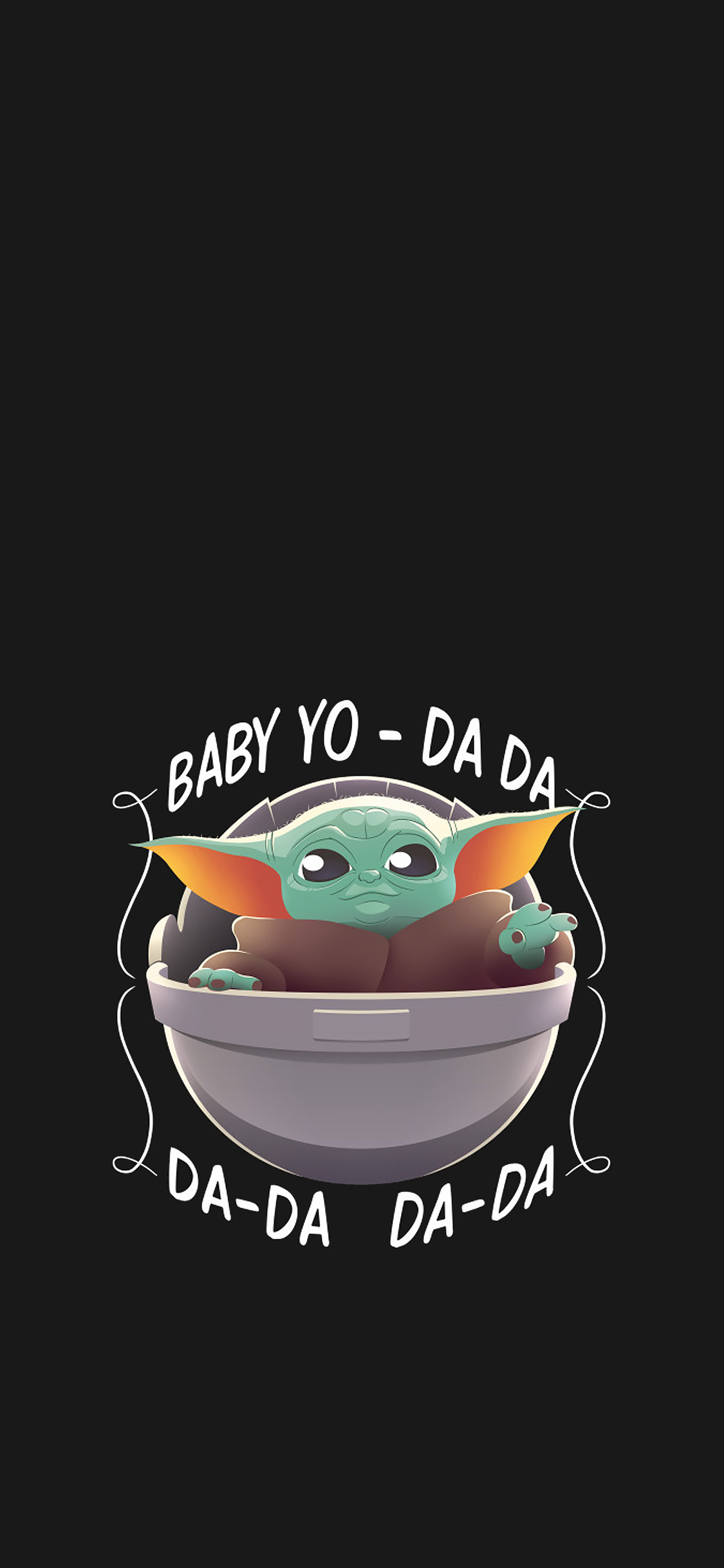Found Baby Yoda and made it mobile friendly ) Fond d