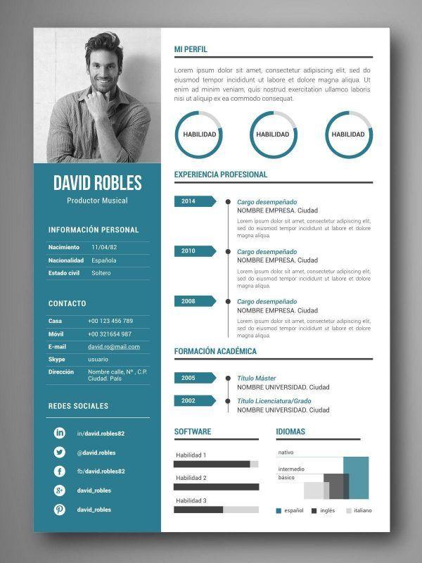 mejores plantillas curriculum infografia word vigo