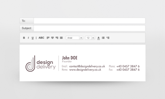 Custom email signature design | Design Inspiration ...