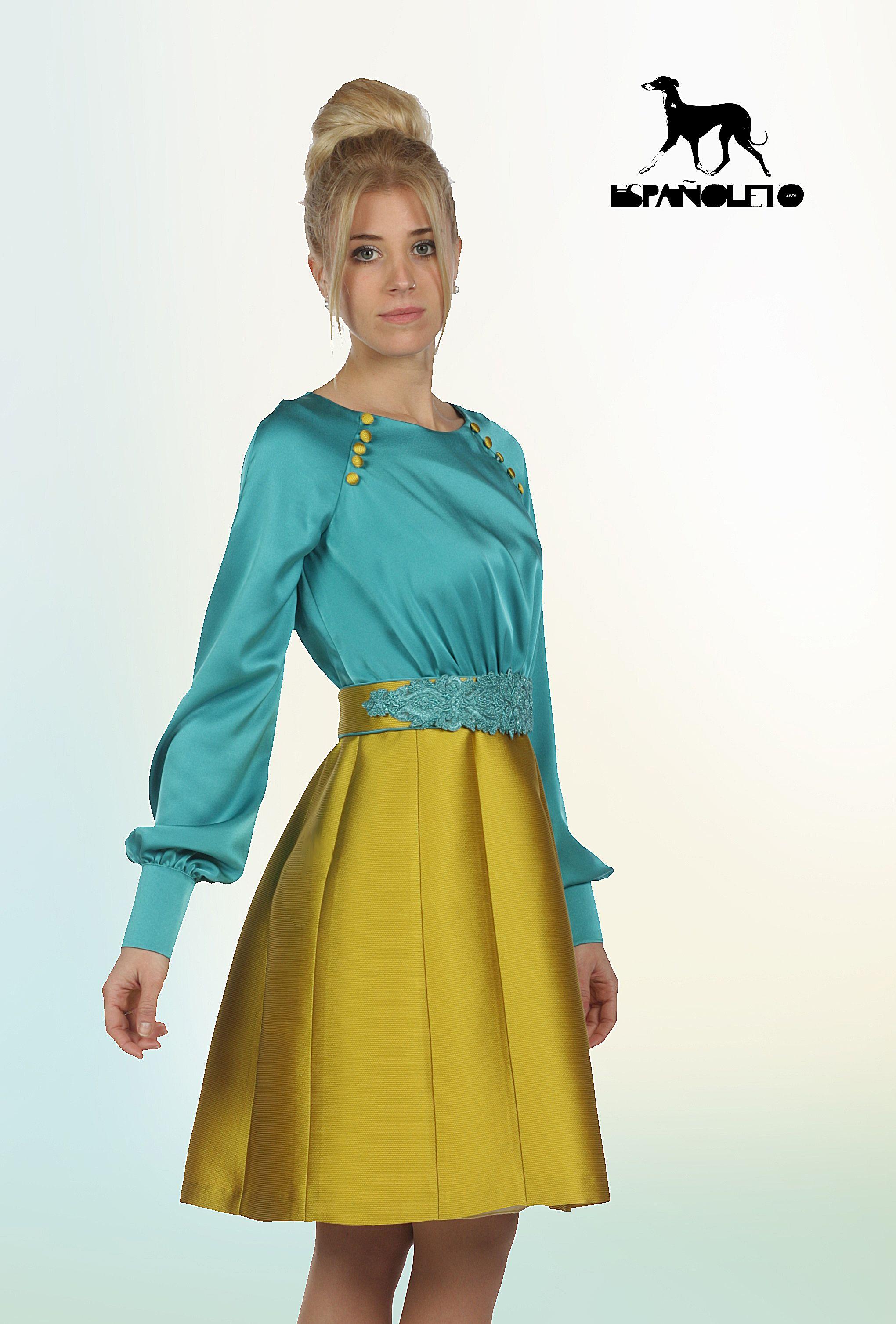vestido mamá comunión, vestido cóctel, moda española, vestidos ...