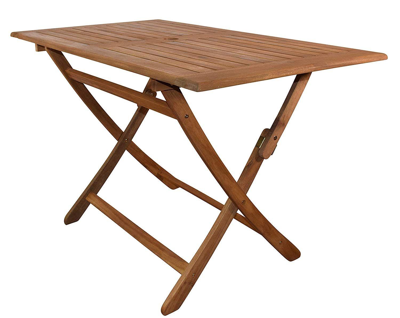 Gartentisch Callao Tisch Akazien Holz Rechteckiger Balkontisch