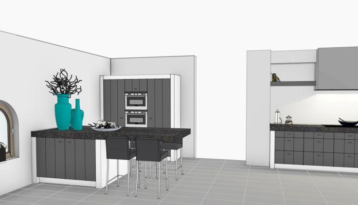 Landelijk moderne keuken ontwerp vri interieurstyling for 3d ontwerp keuken