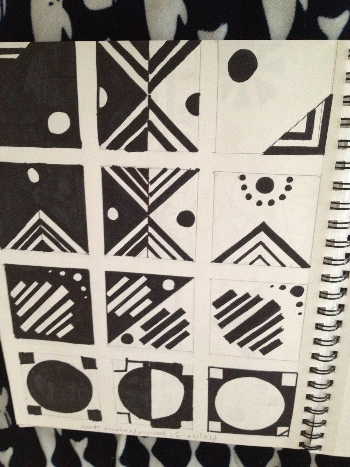 Studio 1 Positive Negative Space Tryptich Page Thumbnails For Project