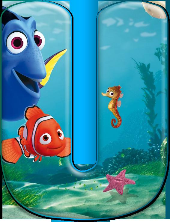 U Disney Alphabet Nemo Birthday Finding Nemo Birthday