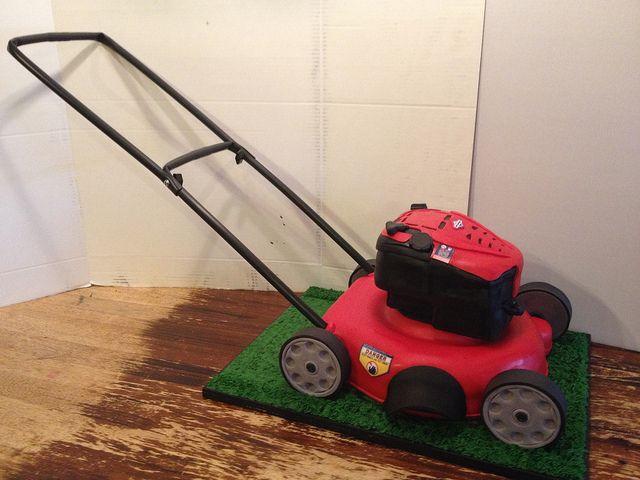 Lawn Mower Birthday Cake Gateau Anniversaire Anniversaire Gateau