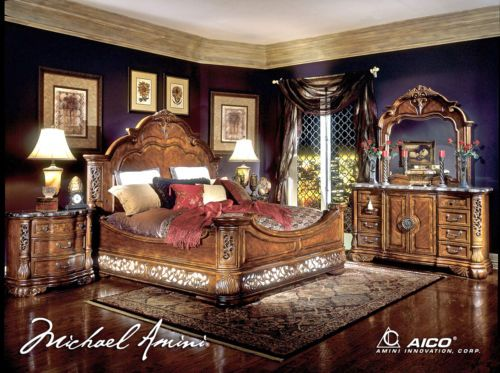 $8,800 Excelsior Luxury Queen Mansion Bed Carved Wood 5