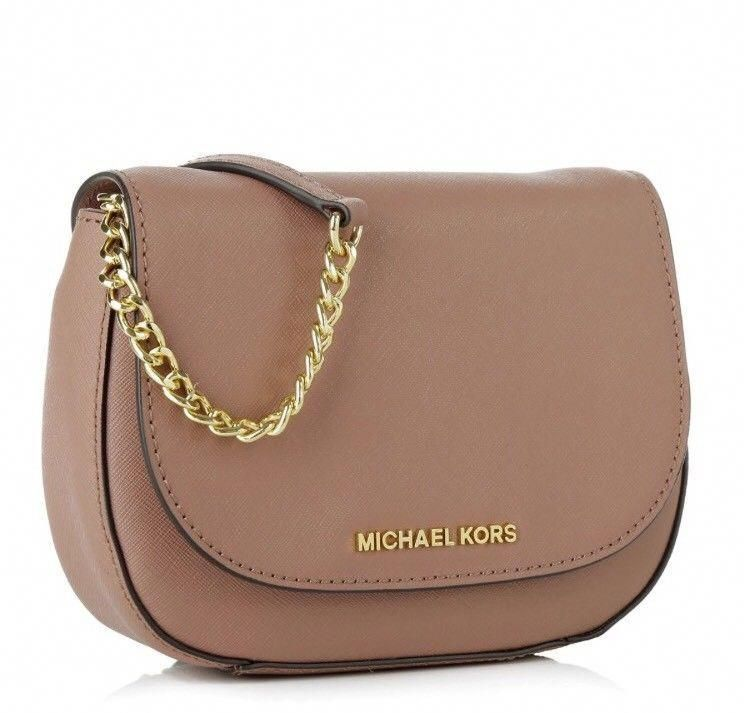 c3102bee99e1 Michael Kors Bedford Dusty Rose Leather Cross-body Bag