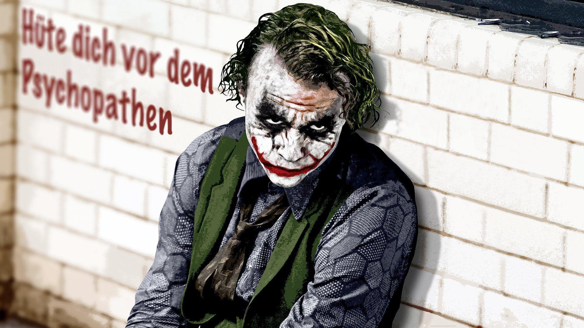 Hüte dich vor dem Psychopathen (mit Bildern)   Joker dark