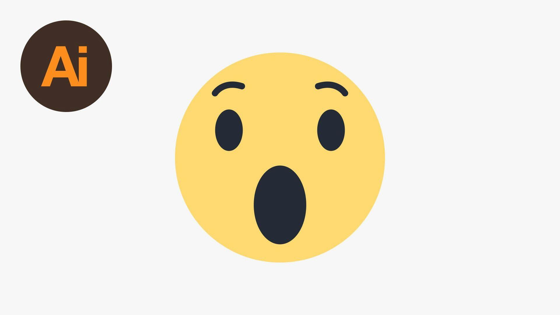 My Favorite Facebook Emoticon Wow Wow Emoji Emoji Illustrator Tutorials
