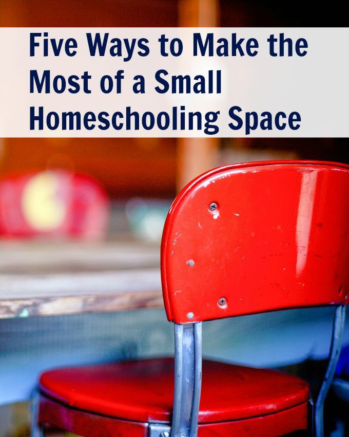 Leah shares 5 ways to make the best use of a small homeschooling space.