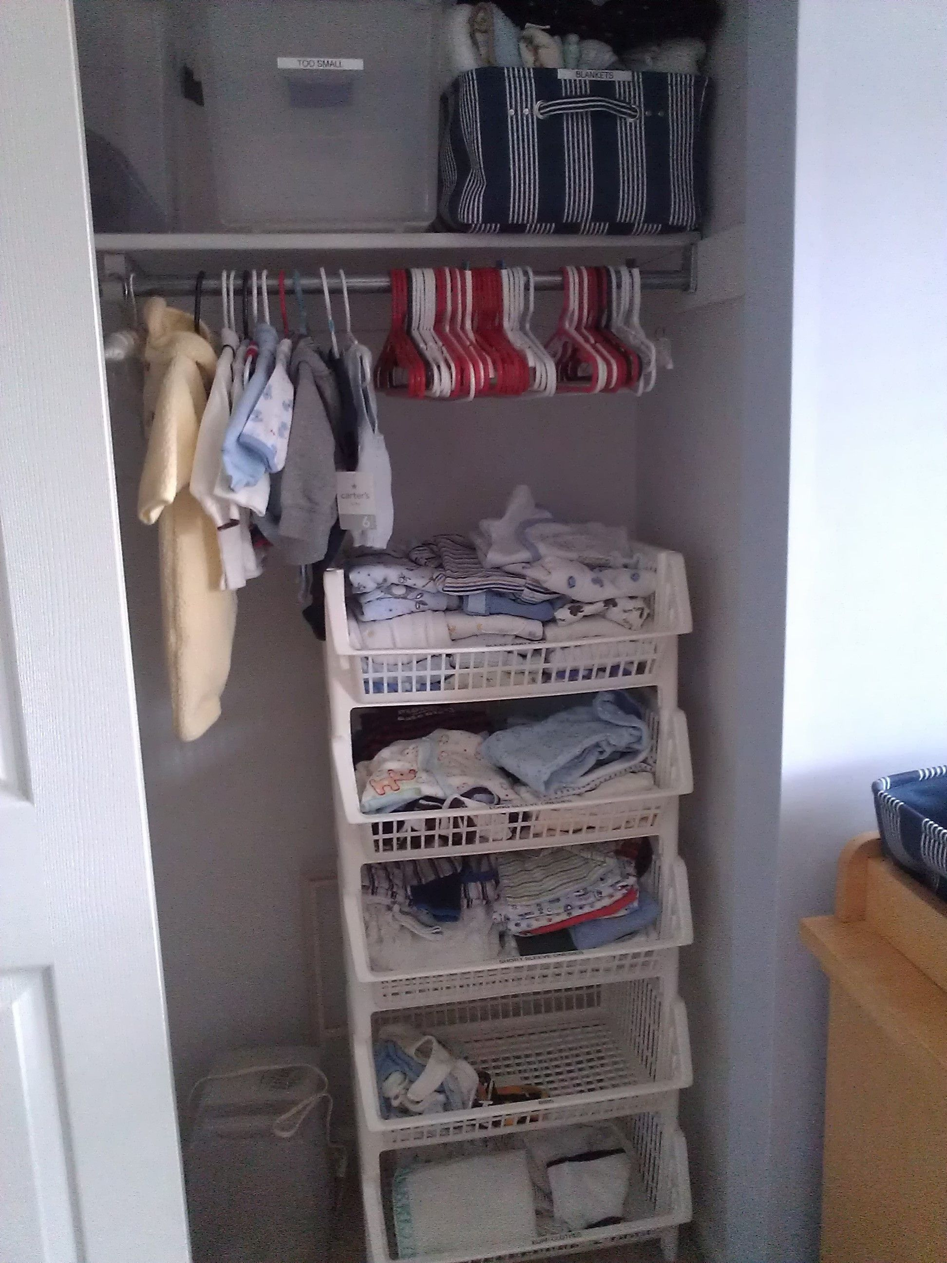 Organized New Born Baby Closet