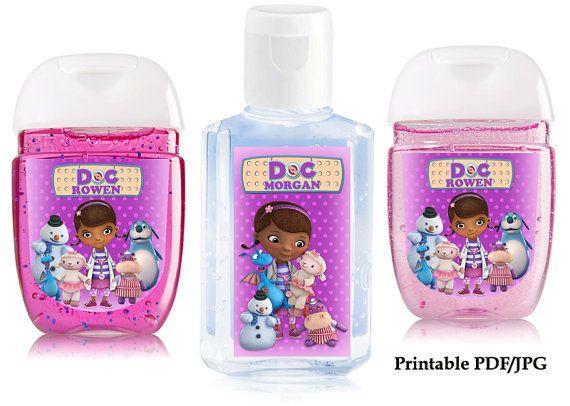 Doc Mcstuffins Hand Sanitizer Labels Custom Birthday Party Thank