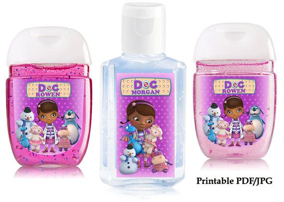 Doc Mcstuffin Hand Sanitizer Label Birthday Party By Sohappyshop