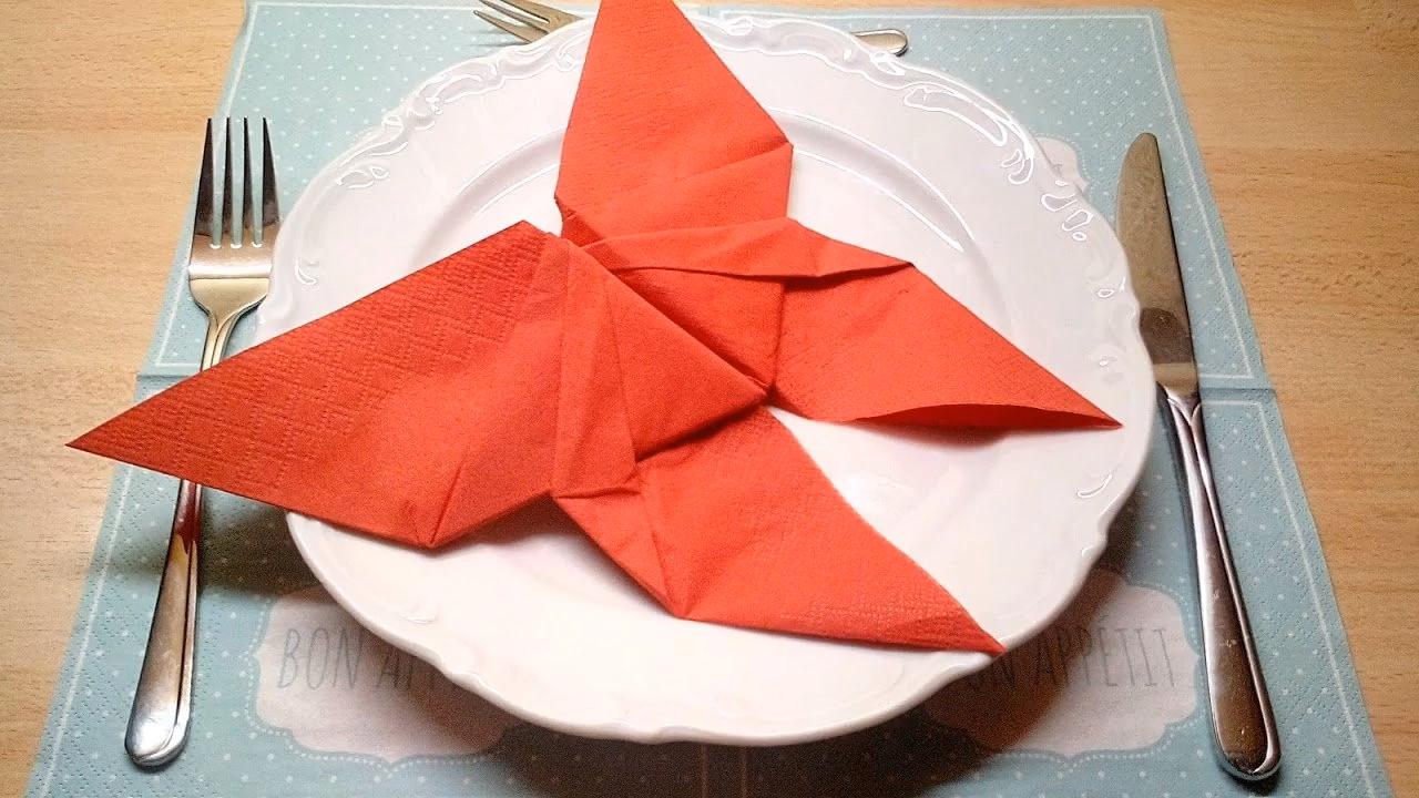 Servietten falten Schmetterling #serviettenfalteneinfach
