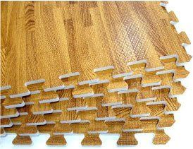 Playroom Flooring Amazon.com: 24 SQFT We Sell Mats Wood Grain Interlocking  Foam Anti