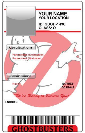 Ghostbusters blank ID badge Jaxsonu0027s 4th Birthday! Pinterest - id badge template