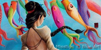 Affiche MISSTIGRI Koi-Nobori 50x100cm