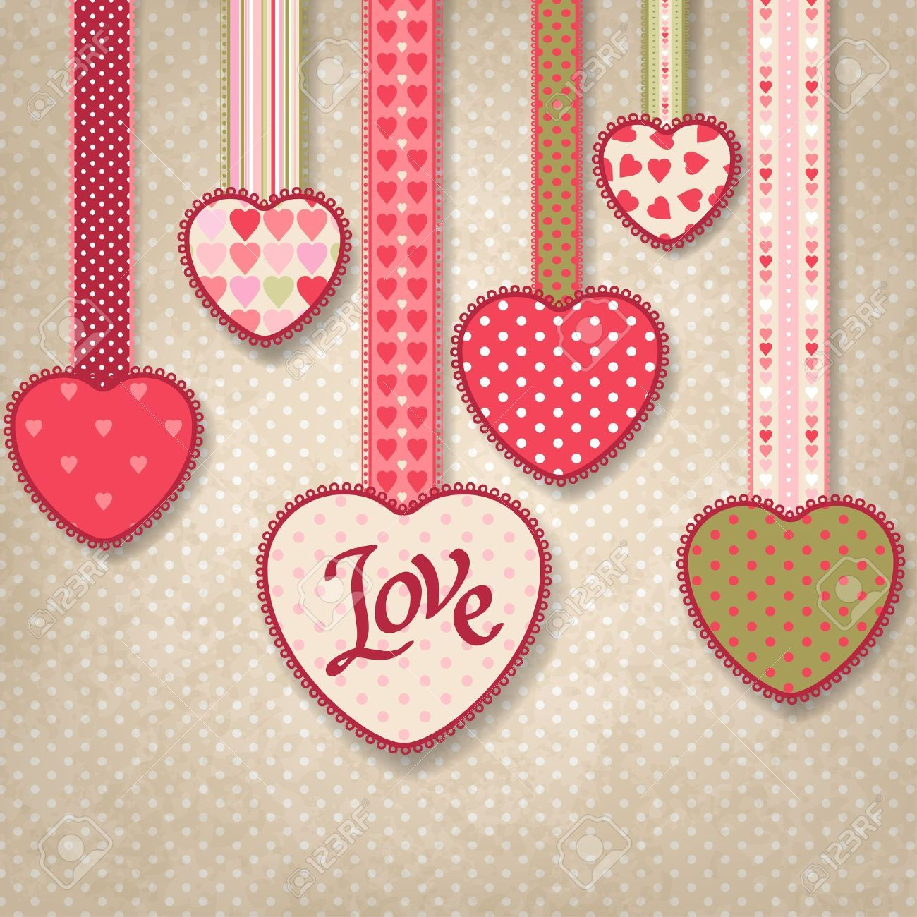 How to make scrapbook paper designs - Retro Background Of Vintage Design With Hearts On Vectorstock