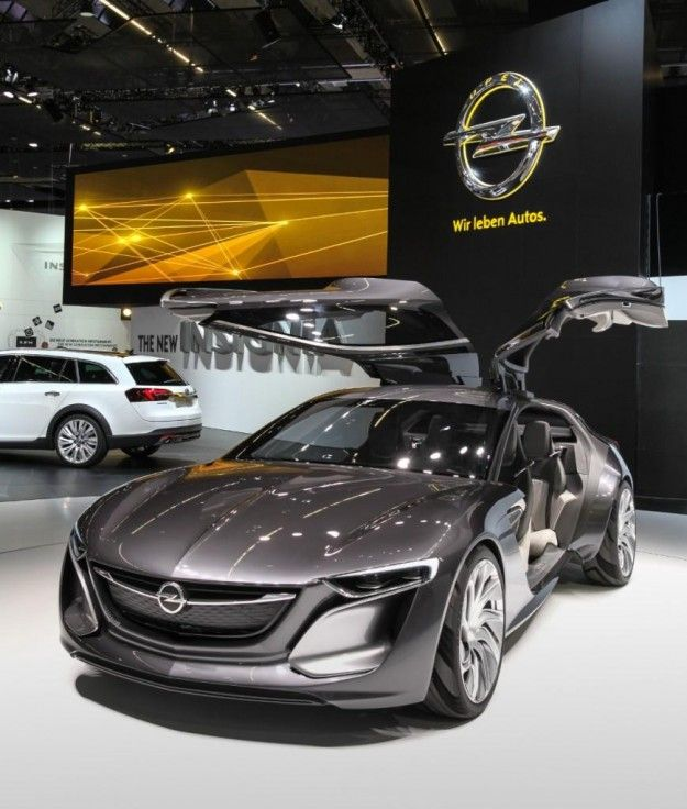 Frankfurt 2013 Sleek Opel Monza Concept Pushes In Car Connectivity