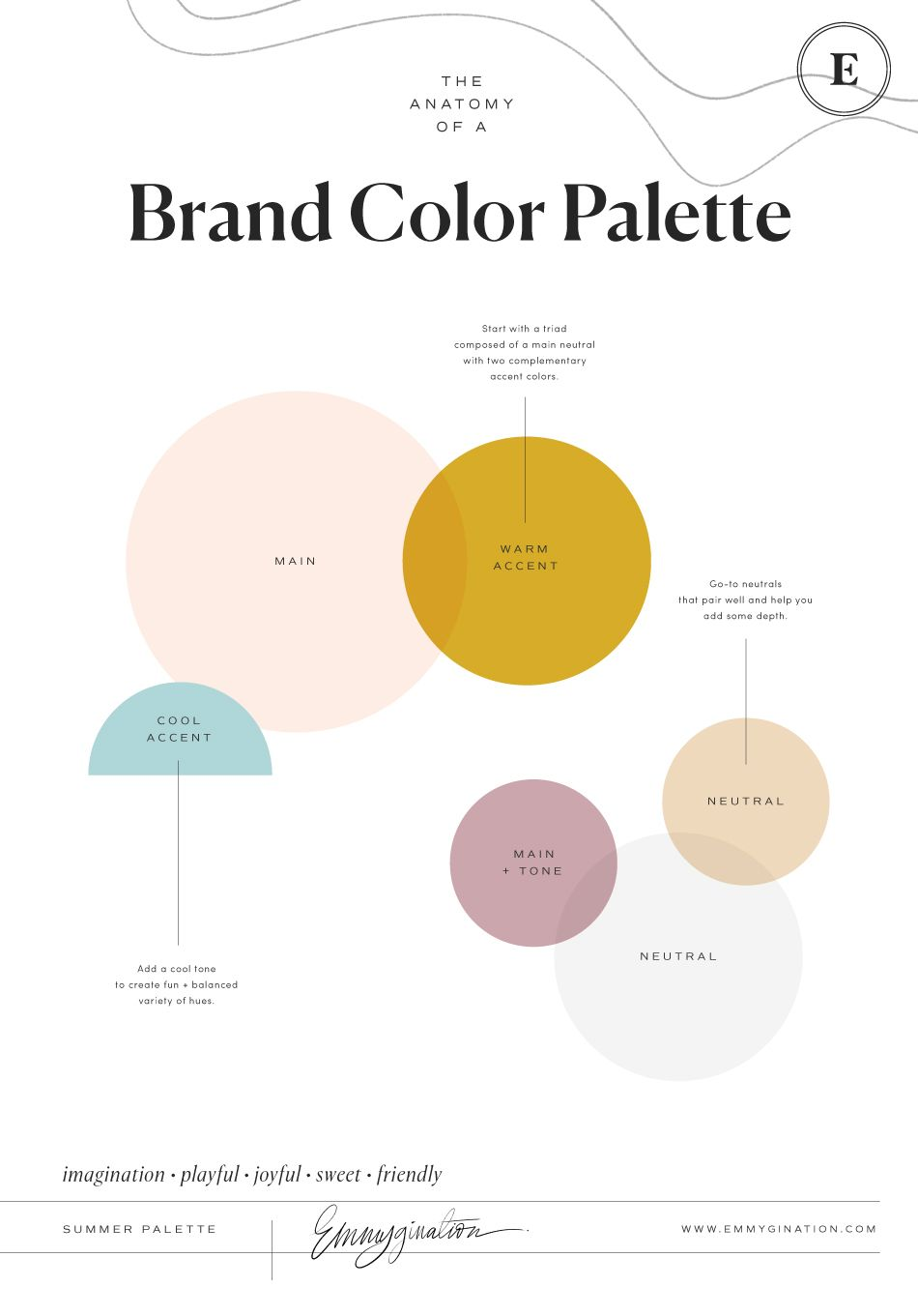 How to Create a Color Palette True to Your Brand ~ Emmygination