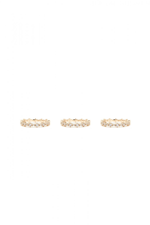 Rue Gembon Kane Gold Ring Trio