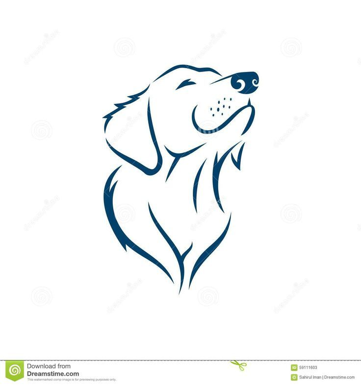 Photo of Perro #face #silhouette #logo #template #stock #vector #