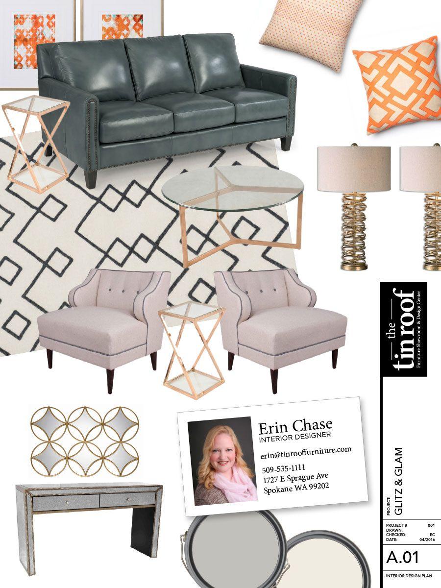 Glitz Glam Room Design By Erin Chase Interior Designer At
