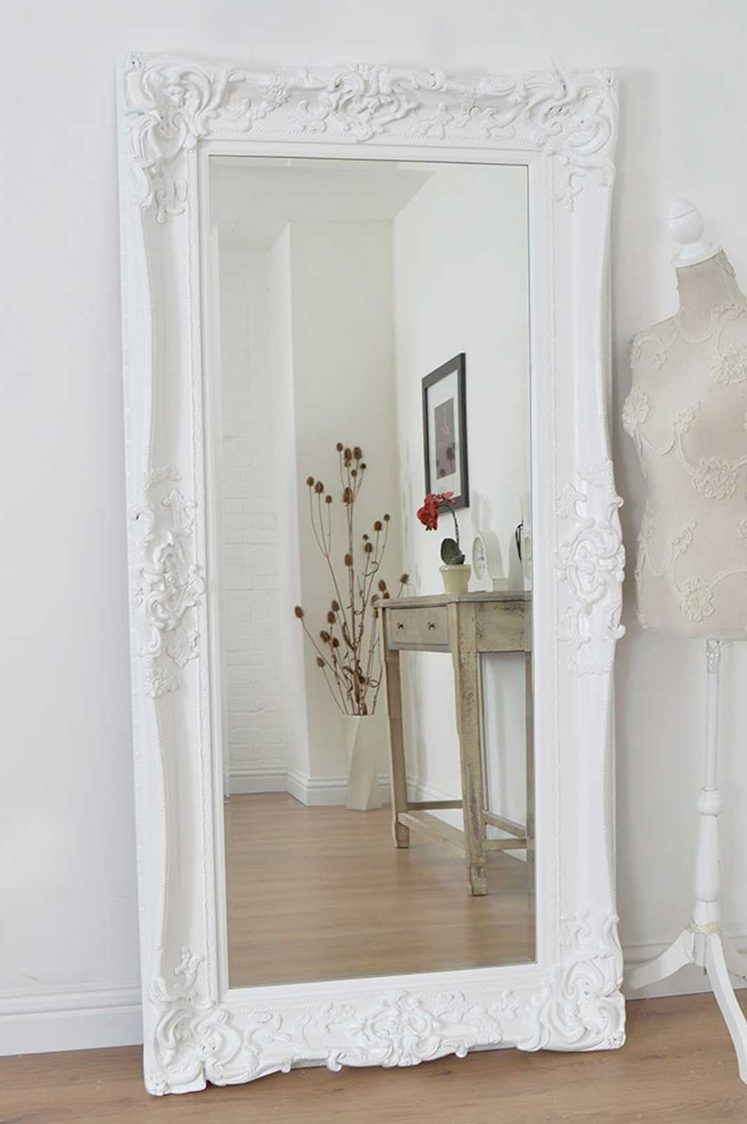 01908 223 388 Large White Mirror White Ornate Mirror Mirror Wall