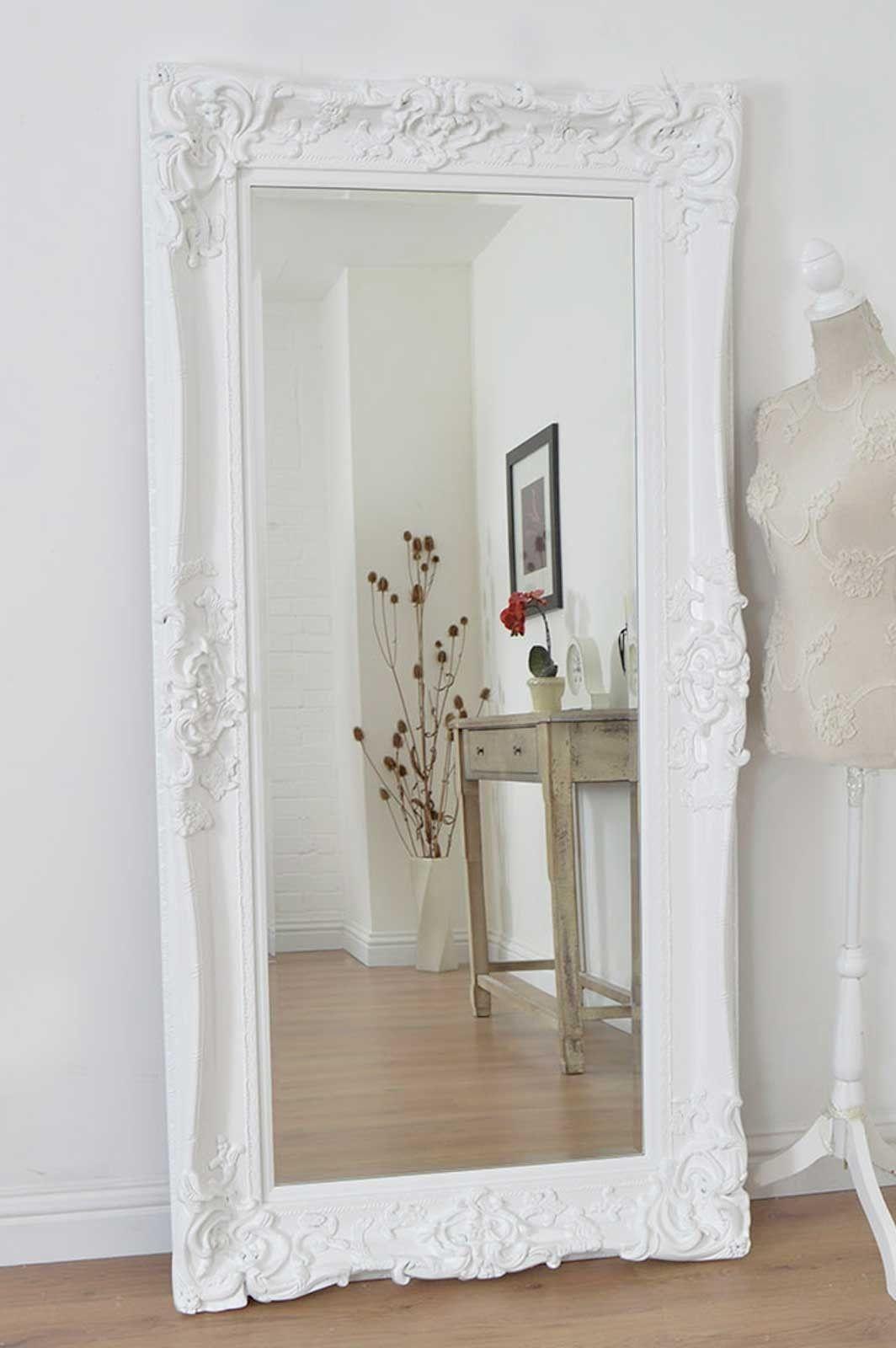 01908 223 388 White Ornate Mirror Large White Mirror Shabby