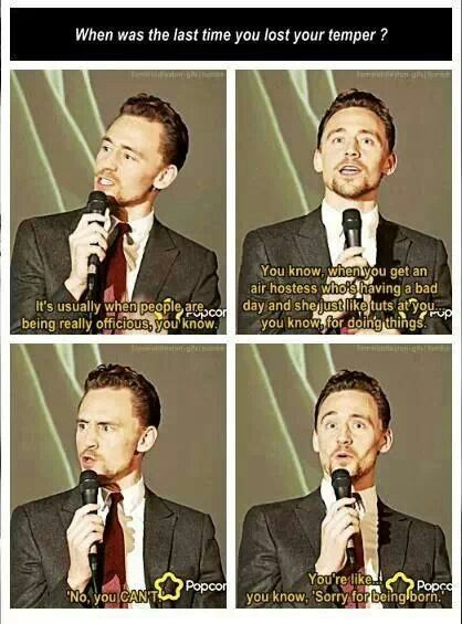Can we just talk about the fact that Tom Hiddleston thinks ...