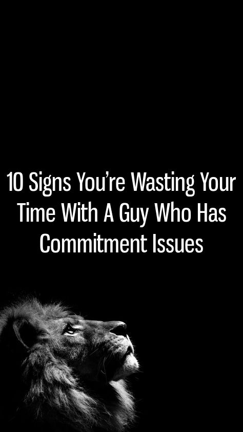 dating someone who has commitment issues