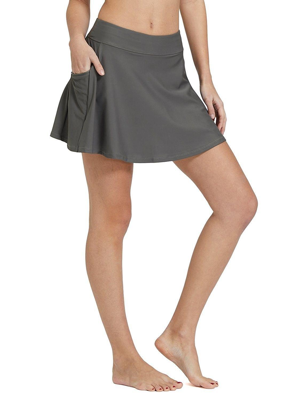 4f884a1b39 Women's High Waisted Swim Skirt Bikini Tankini Bottom With Side Pocket -  Grey - C918984Z2R5,Women's Clothing, Swimsuits & Cover Ups, Bikinis, Bottoms  #women ...