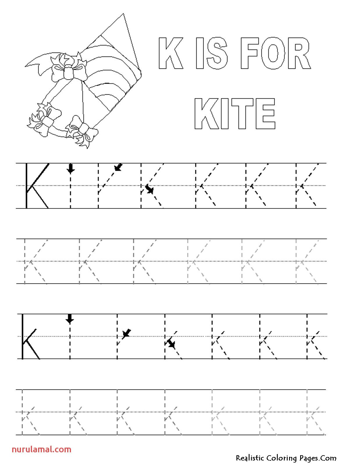 Alphabet Worksheets Preschool Coloring Pages In