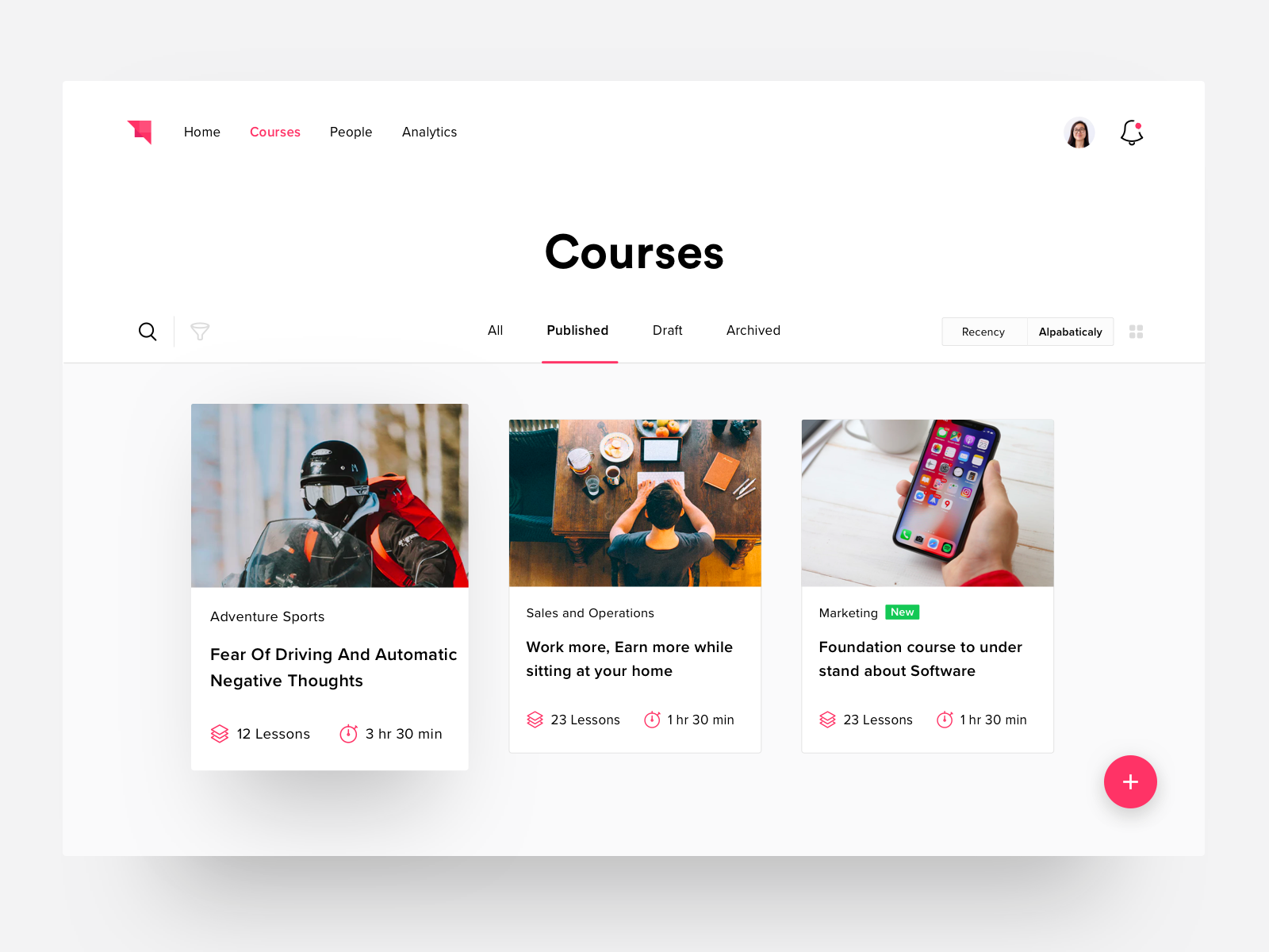 Courses Page By Harsh Vijay Dribbble Dribbble Web Design Tips Web Design Web Design Quotes