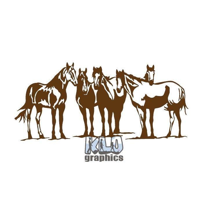 Cowboys Riding Horse Western Car Window Vinyl Decal Sticker
