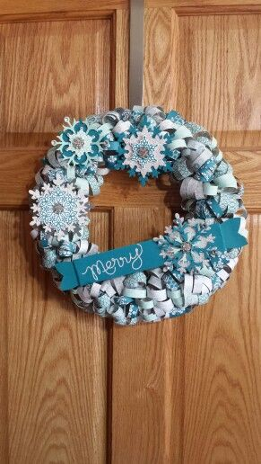 Stampin' Up! Wreath so neat  -want to try this