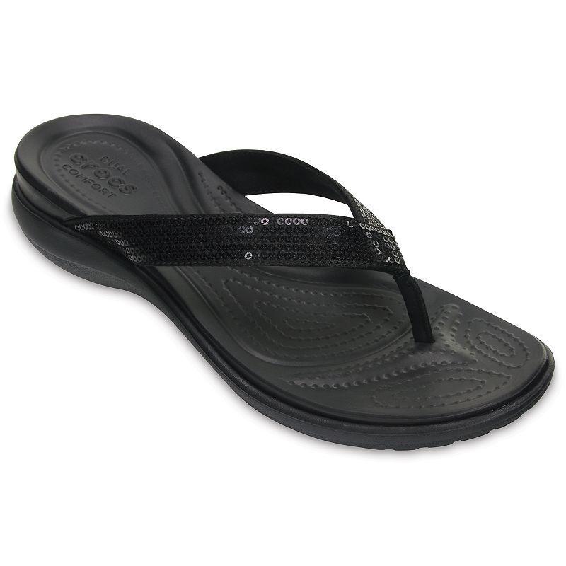 Zapatos negros Crocs Capri para mujer q1kYEj