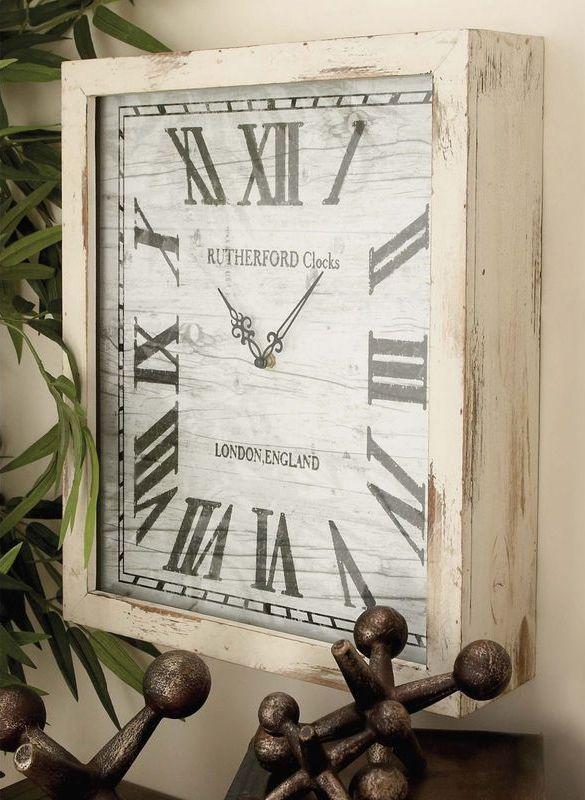 London Inspired Distressed Ash Wall Clock   Wall Decor   Pinterest ...