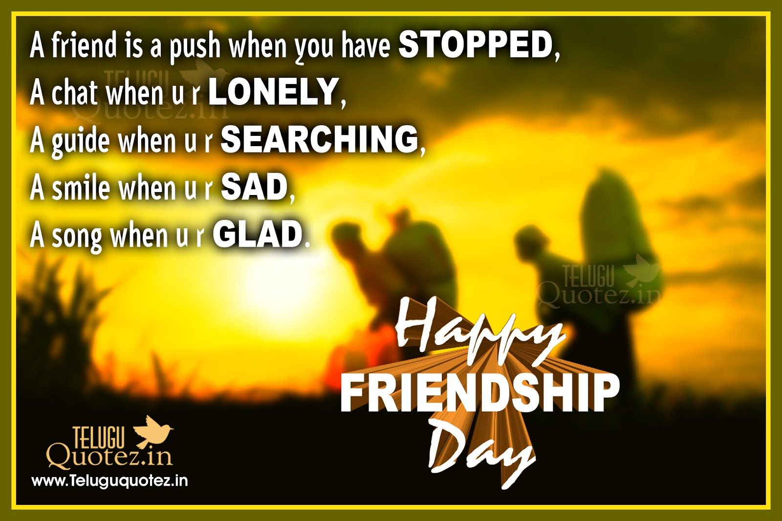 Best Friendship Day Quotes With Images In English : Happy friendship day sms quotes images teluguquotez
