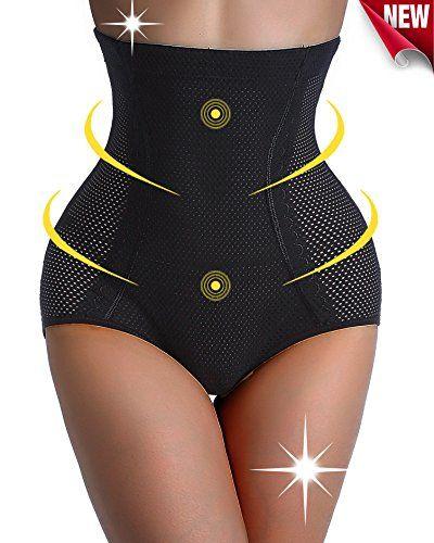 a59c155e3d ... Body Shaper Flatten Belly Sexy Underwear. Womens Fat Burner Pants Yoga  Sauna HighWaist Thigh Slimming Shapers Panties XLarge Blacksmooth thighs    Want ...