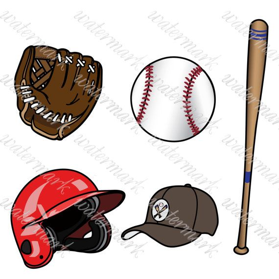 Baseball Clipart Sport Clipart Digital Sport от ...
