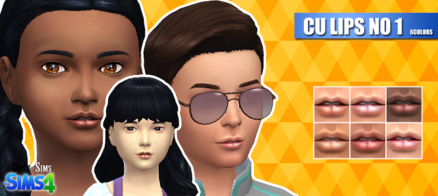 Sims 4 CC's - The Best: Lips for Child by Onyx Sims