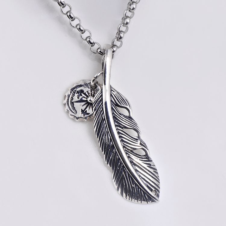 Punk feather goros pendant sterling silver mens womens cool punk feather goros pendant sterling silver mens womens cool necklace gift mozeypictures Images