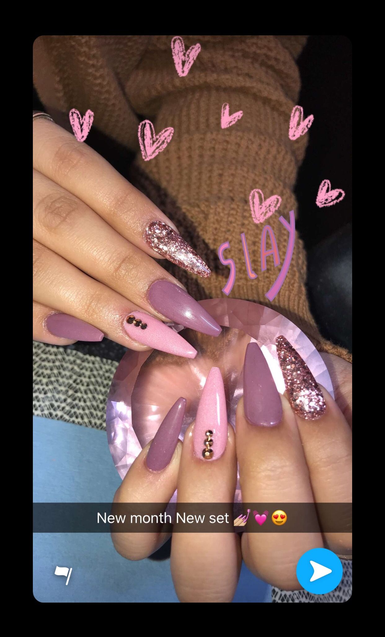 Follow Me Cold Princess For More Baddie Pins You Can T Save My Pin But Don T Follow Me Like Give My Pretty Acrylic Nails Long Acrylic Nails Elegant Nails