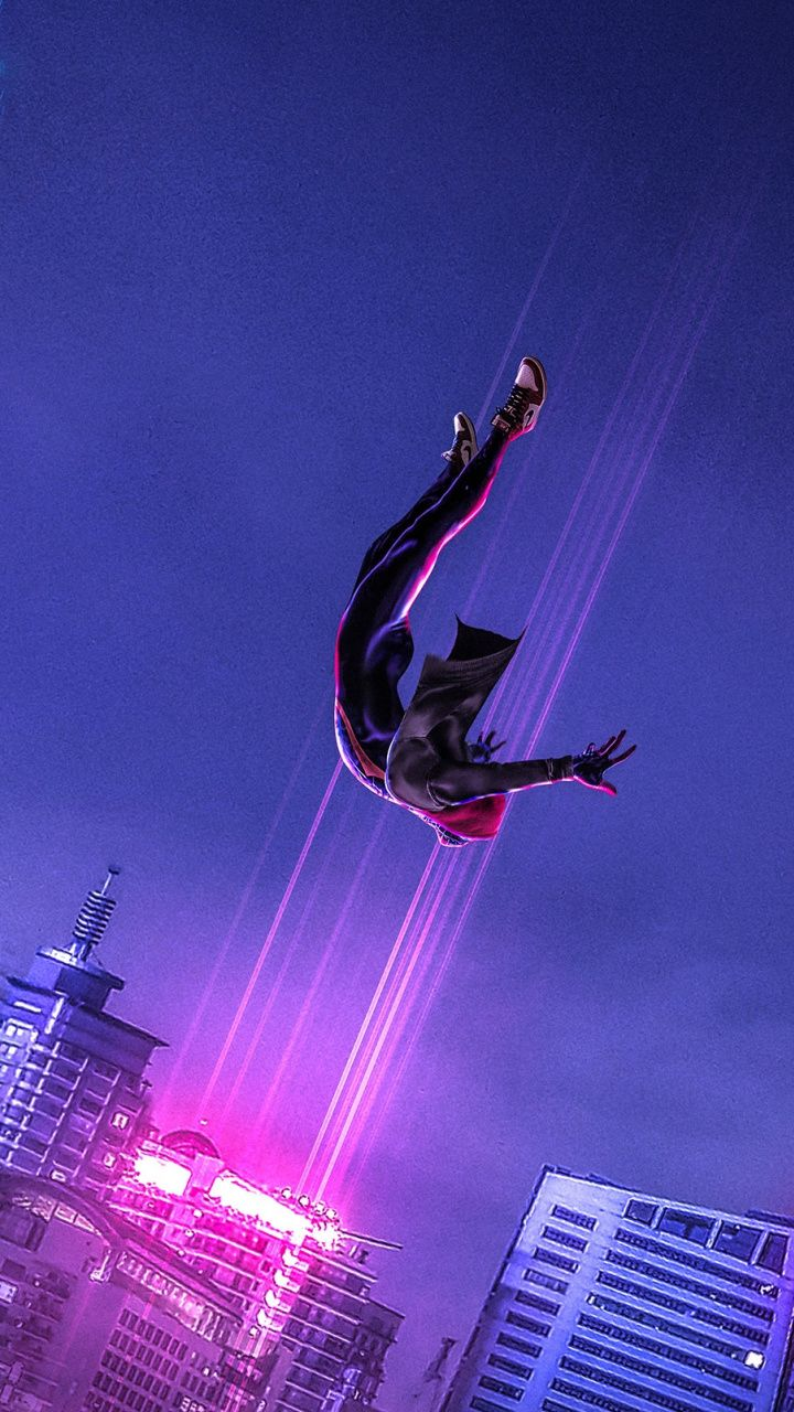 720x1280 SpiderMan Into the SpiderVerse, dive, jump